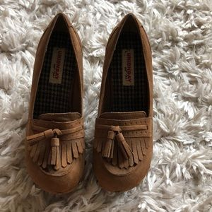 Cute heeled loafers